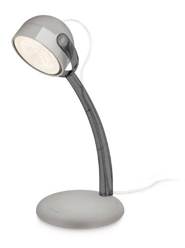 Philips DYNA lampe de bureau LED luminaire d'intérieur Gris Matières synthétiques