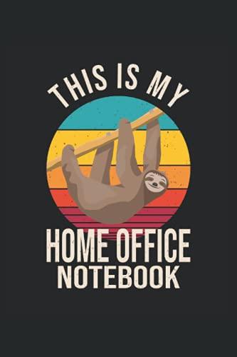 This is my Home Office Notebook: Bloc-notes pour le bureau à domicile depuis la maison, 120 pages, format 6 x 9 pouces, carré, cadeau pour le bureau à domicile et le travail à domicile