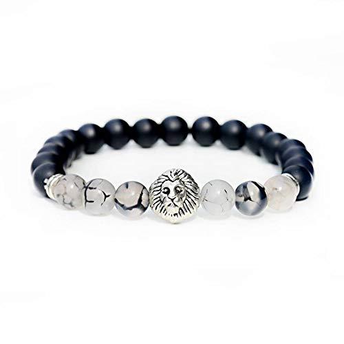 SJAIJY Pulsera De Hombre,La Moda del Budismo Yoga Equilibrio Pulsera Hombres Negro Mate De La Piedra Natural Beads Bracelet para Mujeres Braclet del Joyas