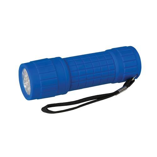Lampe torche à 9 LED souple anti-éclaboussures et résistant aux chocs Corps caoutchouté avec dragonne