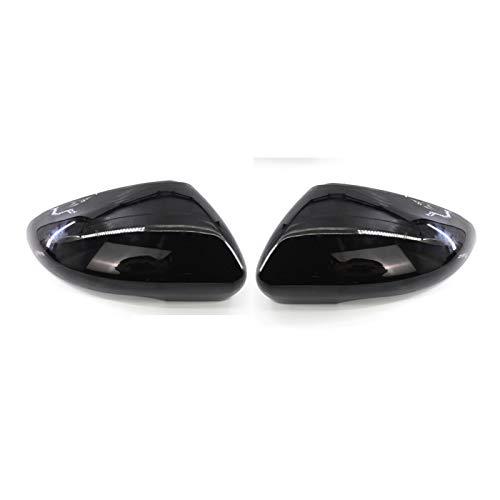 JIABIN Songz Store Kohlefaserglanz schwarzer Spiegelabdeckung Rückseite Spiegelkappe Ersatzteile für VW Volkswagen Golf 6 Mk6 Fit für Touran (Color : Black)