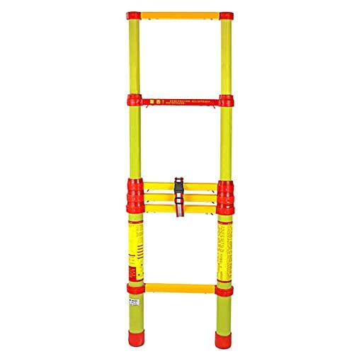 Escaleras telescópicas de extensión no conductoras altas,8,5 pies / 10 pies / 12,5 pies / 16,5 pies Escalera retráctil de fibra de vidrio con aislamiento,mantenimiento de electricidad (tamaño: 3,