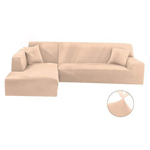Funda para sofá en Forma de L Funda para sofá Protector para Mascotas Antideslizante Resistente a Las Manchas Protector de Muebles Lavable a máquina Fundas Mode