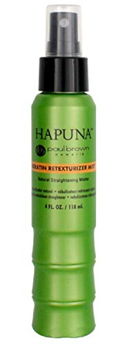 Paul Brown Hawaii Hapuna Keratin Retexturizer Mist Natural Flexible Styling Hair Straightening Spray for NonDamaging ChemicalFree RelaxerFree Smooth FrizzFree Curls 4oz, 1 Count