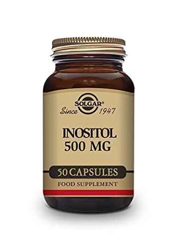 Solgar Inositol Vegetable Capsules, 500 mg, 50 Count