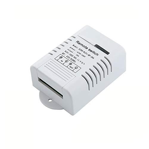 QXWSZ WiFi Interruptor Inteligente Wi-Fi Interruptor Inteligente Interruptor Remoto Voltaje Ancho 30A Alta Potencia Soporte De Control De Voz