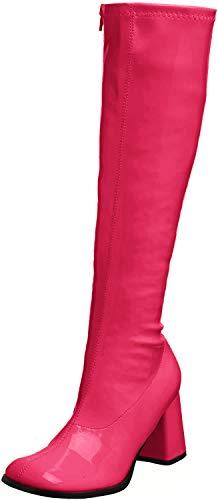 Funtasma GOGO300/HP- Bota Mujer, Morado(Lack Hot Pink), 44 (Ropa)