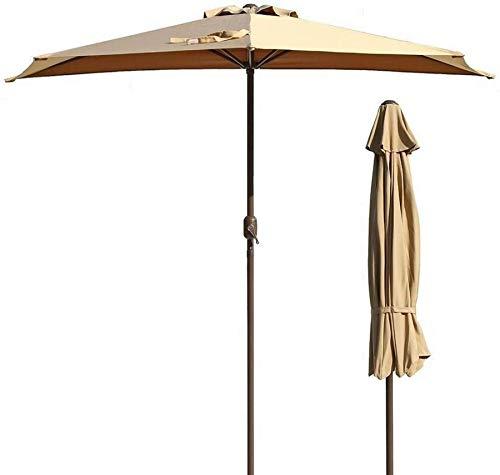 9 pies / 270cm al aire libre for sombrilla sombra ventana de la puerta del parasol Bistro pared del balcón sombrilla Mercado (Caqui) (Color: Caqui, tamaño: 9 pies / 270cm) (Color: Caqui, tamaño: 9 pie