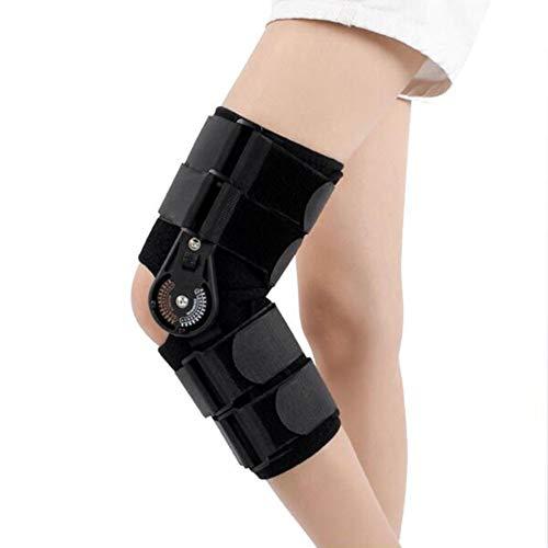 Justerbart knästöd med gångjärn, nedre kantstöd menisk fast skyddande postoperativ rehabilitering