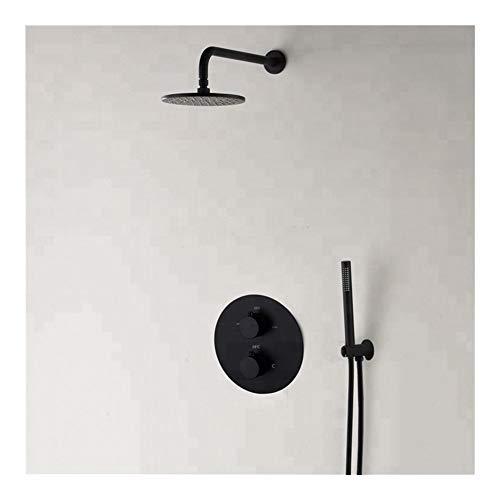 Duradero Mezclador de ducha for baño Juego de ducha mezclador de agua termostático, 10 pulgadas (Bath & Shower Faucet Type : Shower Sets)