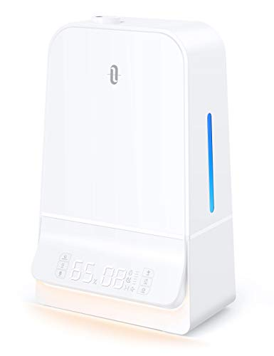 TaoTronics Humidifiers 6L Cool Mist Humidifier with Humidistat LED Display 26dB Whisper Quiet Wide...