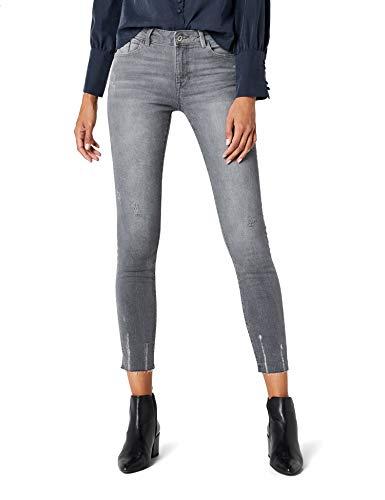edc by ESPRIT Damen 028CC1B011 Skinny Jeans, Grau (Grey Light Wash 923), 28/32
