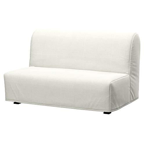 Soferia Funda de Repuesto para IKEA LYCKSELE sofá Cama 2 plazas, Tela Elegance Ecru, Off-White