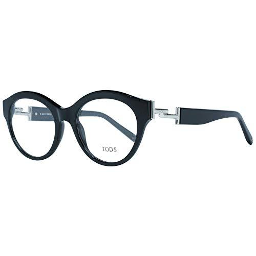 Tod's Unisex-Erwachsene TO5173 Sonnenbrille, Schwarz (Nero Lucido), 51.0