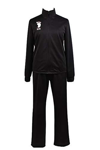 Ya-cos Haikyu!Karasuno/Nekoma High Volleyball Jersey Cosplay Costume Haikyuu Uniform Black Full Suits