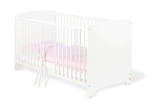 Pinolino - 110090 - Kinderbett Jil (140 x 70 cm) - mit 3 Schlupfsprossen, Kiefer, teilmassiv, weiß