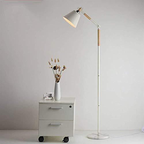 LIANGANAN De pie luminarias de estilo europeo de madera del LED verticales del arte de metal Rod Luces creativas de pie luminarias for sala de estar dormitorio Estudio de iluminación Bombilla incluida