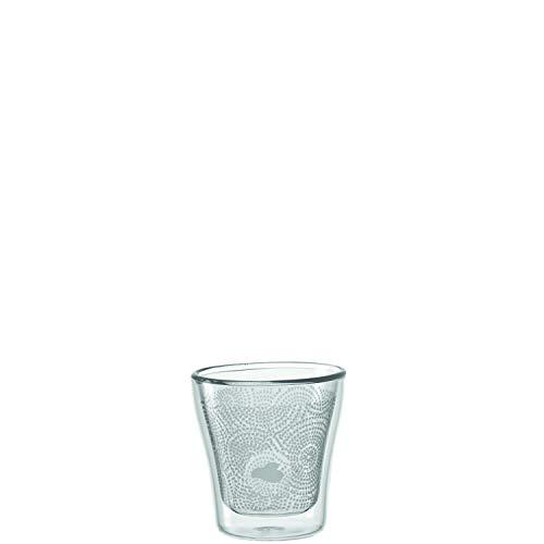 LEONARDO - Duo Dekor - doppelwandiges Glas - 2er Set - für Espresso, Kaffee, Mocca etc. - (ØxH): 6 x 6,3 cm