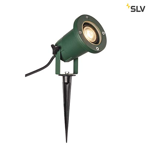 SLV LED Strahler NAUTILUS XL mit Erdspieß | Außenlampe zur Beleuchtung von Garten, Terrasse, Pflanzen, Wegen, Teich | Aussen-Leuchte, Außen-Strahler | IP65, GU10, 1,5 m Kabel mit Stecker, Aluminium