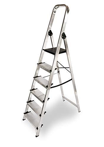 ALTIPESA - Escalera Doméstica de Aluminio, Peldaño 12 cm. (6 peldaños)