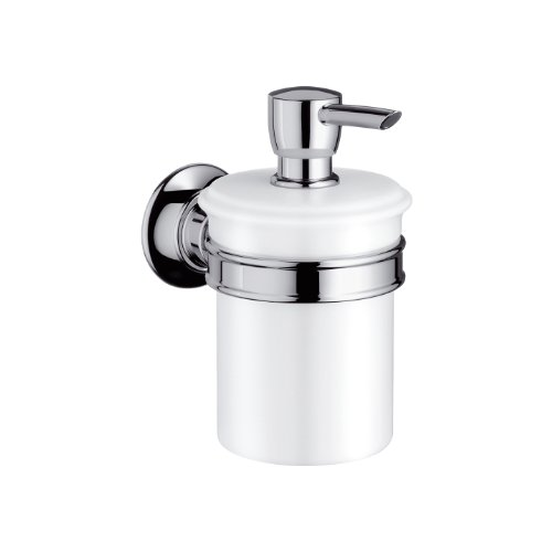 Hansgrohe 42019820 Lotionspender Montreux mit Behälter, brushed nickel