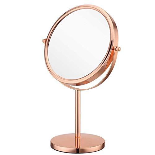 L.HPT Miroirs de Maquillage grossissant 10 Fois grossissant Miroir de Maquillage pour Rasage et Maquillage de Table - miroirs de Poche de 8 Pouces (Couleur: doré, Taille: 8 Pouces)