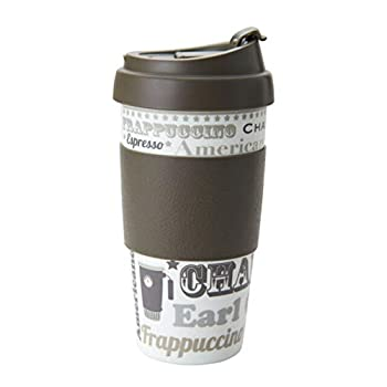 DFL 16 Ounce Double Wall Coffee Mugs 2 Pack Brown/Coffee Talk