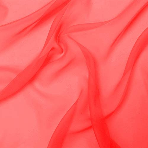 Chiffon Fabric 10 Yards Continuous 60 Wide Wedding Decoration DIY Decoration Sheer Drapery Solid product image