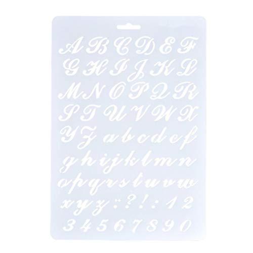 KaariFirefly Nützliche Hohle Buchstaben-Schablonen Alphabet Zahlen Malerei Scrapbooking Papier Karten Basteln Kinder Zeichentafel #2