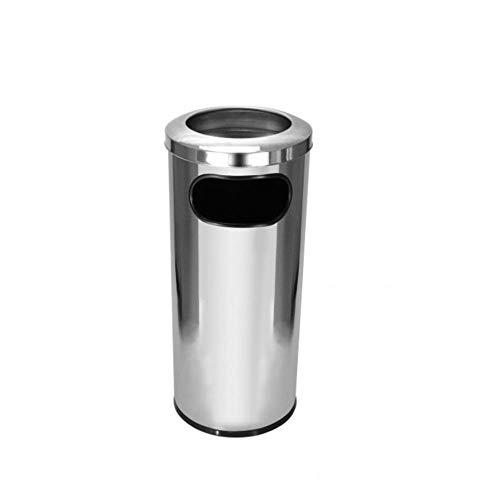 Cinzeiro em Aço Inox 30x70 com Aro em Aço Inox