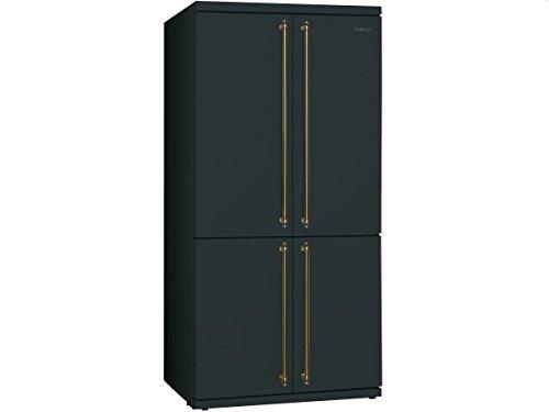Smeg fq60cao Frigo Porte côté à côté – Réfrigérateur Side-By-Side (autonome, anthracite, porte américaine, a +, Sn, n, St, T, côté)