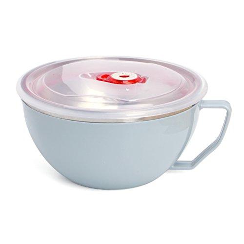 junengSO Nudelschale aus Edelstahl mit Griff Lebensmittelbehälter Reisschüssel Suppentassen