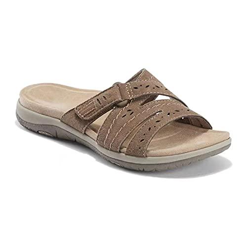 Abimy Women's Wedges Slide Sandals, Orthopedic Comfy Premium Round Toe Sandals Hollow...
