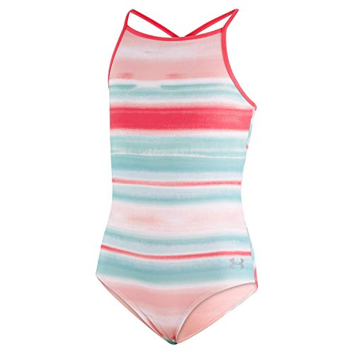 Under Armour Girl's Big One Piece Swimsuit, Mosaic-S191, 8
