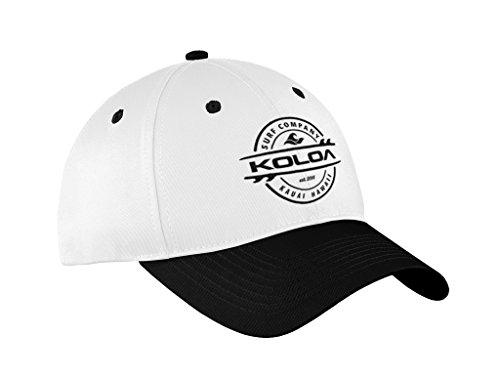 Koloa Surf Thruster Logo Old School Curved Bill Solid Snapback Hat BlkWht/b