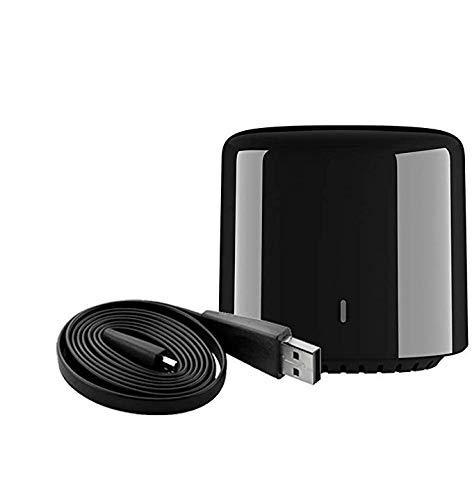 yunlink SmartHome - Mando a distancia IR para Broadlink RM Mini3 para iPhone Android 4.0 + Teléfono móvil, WiFi + IR compatible con ALEXA RM4C mini4 negro (RM4C MINI)
