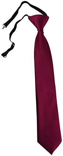 TigerTie Kinderkrawatte violett Uni - Krawatte vorgebunden mit Gummizug