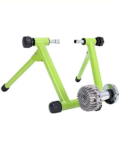 YBN Entrenador de bicicleta plegable interior Soporte de bicicleta de resistencia hidráulica Plataforma de entrenamiento de bicicleta silenciosa para bicicletas MTB/Road de 36-39 pulgadas
