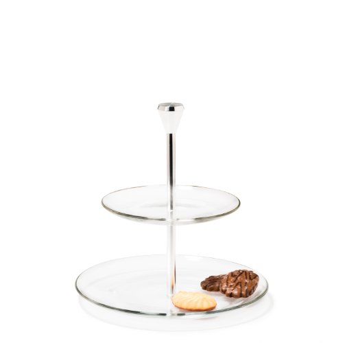 Leonardo 020544 - Etagere - Dinner - 2-stöckig - Glas - für Pralinen, Gebäck, Antipasti und Co.