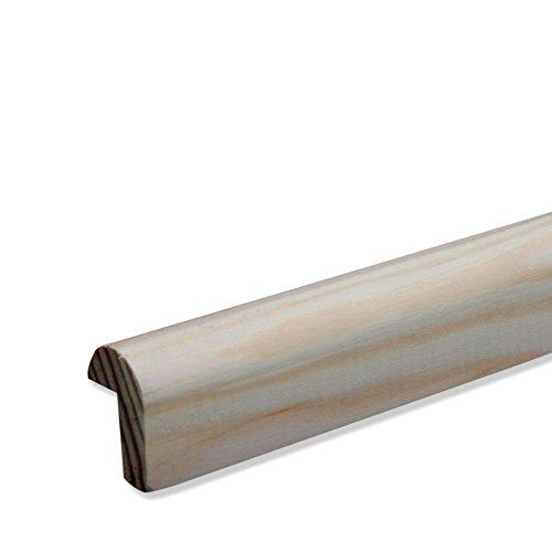 Bilderleiste Falzleiste Abschlussleiste Zierleiste Rundprofil aus unbehandeltem Kiefer-Massivholz 2400 x 19 x 28 mm