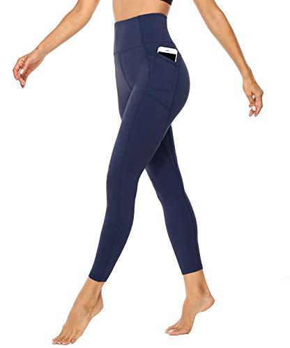 JOYSPELS Anti Cellulite Streetwear Fabletics Leggings Damen gymshark Strumpfhosen pro Legging Leggins, Dunkelblau, S