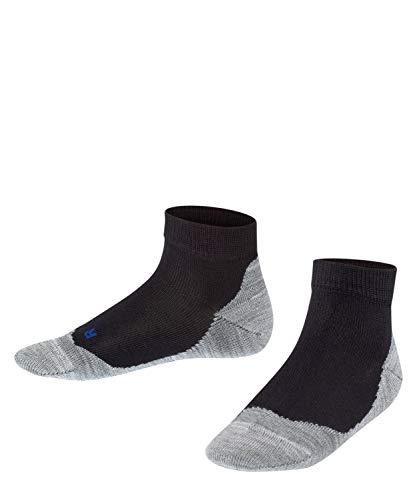 FALKE Kinder Sneakersocken Active Sunny Days - Baumwollmischung, 1 Paar, Schwarz (Black 3000), Größe: 39-42*