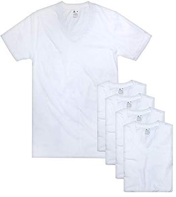 Reebok Men's V-Neck T-Shirt (5 Pack), White, Large by