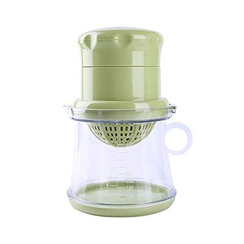Taza de jugo Prensa de mano pequeña portátil Prensa doméstica Herramienta de jugo de fruta fresca (Color: Verde, Tamaño: 10x17.5cm)