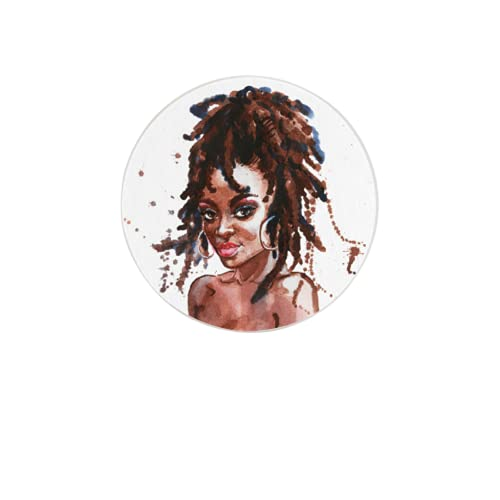 Posavasos absorbentes Art Colorful Africa Beauty Girl Farmhouse Decoración de Oficina para Proteger la Mesa o la Barra 4 Pulgadas Posavasos Divertidos Regalos de inauguración de la casa Decoración de