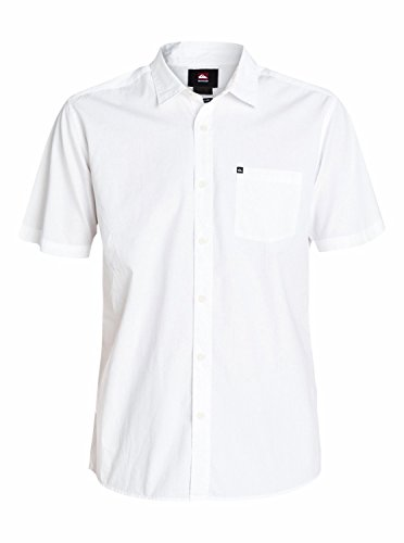 Quiksilver Everyday Solid Chemise manches courtes Homme White FR : XL (Taille Fabricant : XL)