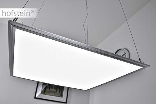 LED Panel Paul, quadratische Pendelleuchte aus Aluminium, inkl. Trafo, Hängelampe, 2800 Lumen, 6000 Kelvin, höhenverstellbare Deckenleuchte für Wohnzimmer, Esszimmer, Küche