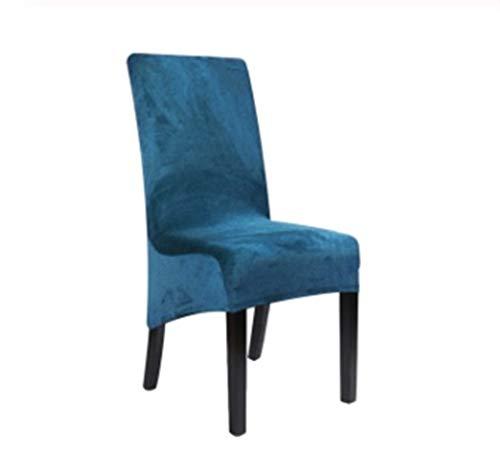 ASVNDD Velvet Größe XL-lang Rückseiten-Stuhl-Abdeckung Spandex Dining Chair Slipcover Große Elastische Stretch-Kasten Stuhl Küche Bankett Hochzeit (Color : Teal Blue, Specification : 6 pcs)