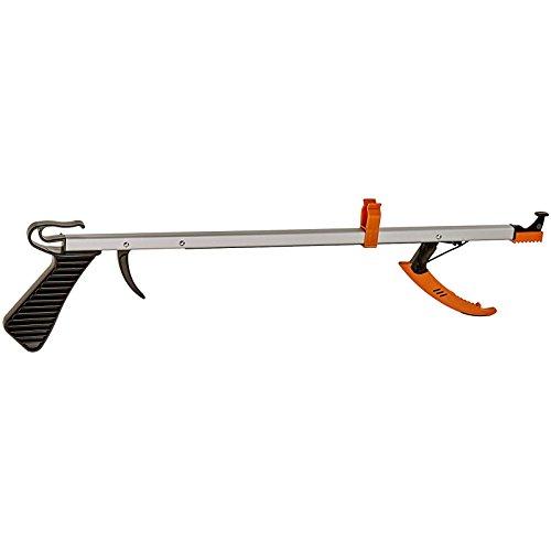 "Sammons Preston - 73321 Easireach II Reacher, Compact 15"" Ergonomic Reaching Aid with Magnet, Portable 4.9 oz. Magnetic Grabber Tool & Reaching Claw, Aluminum Trash Pickup, Lightbulb Remover"