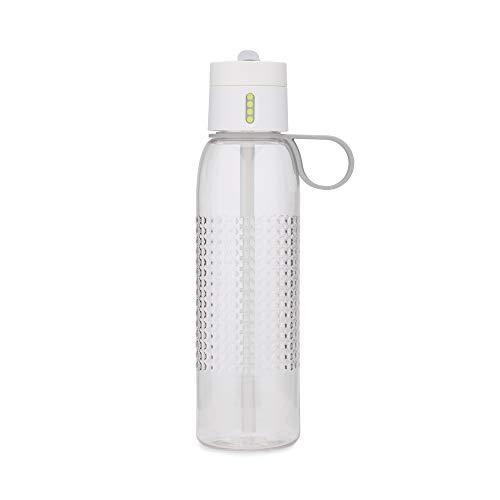 Joseph Joseph Dot Active Botella de Agua con Tapa con recuento (750ml) -Blanco